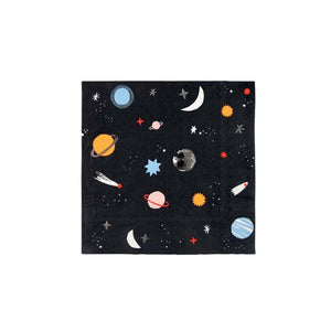 Space Small Paper Napkins - 16 Pack