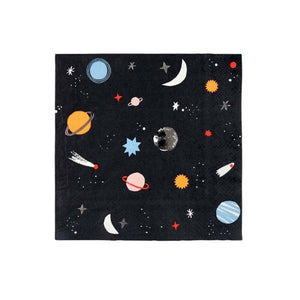 Space Large Paper Napkins - 16 Pack