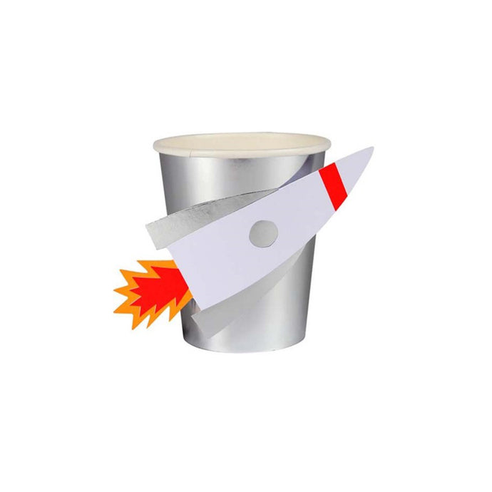 Rocket Paper Cups - 8 Pack