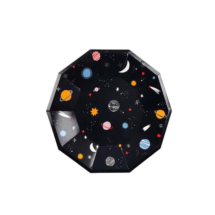 Space Small Paper Plates - 8 Pack