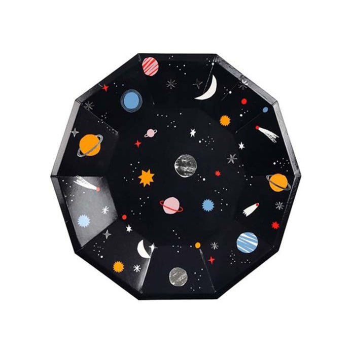 Space Large Paper Plates - 8 Pack