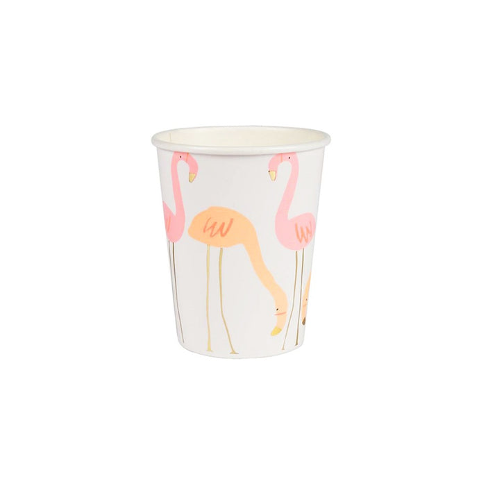 Neon Flamingo Paper Cups - 8 Pack
