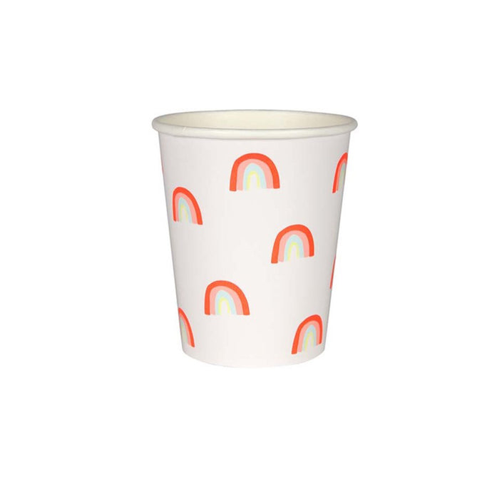 Neon Rainbow Paper Cups - 12 Pack