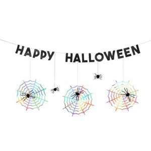 Honeycomb Spider Paper Garland
