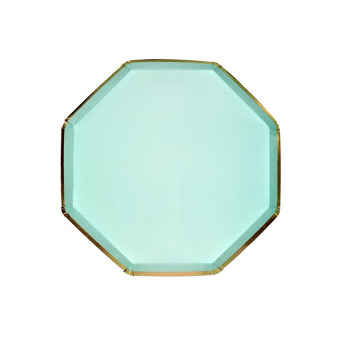 Mint Green Octagonal Small Paper Plates
