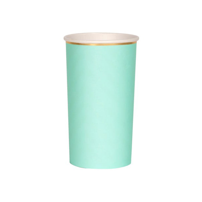 Mint Green Highball Paper Cups - 8 Pack