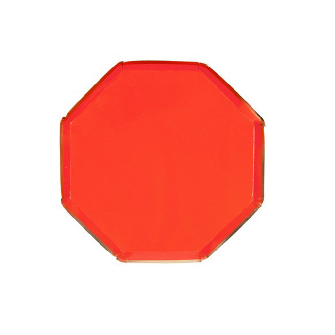 Red Octagonal Small Paper Plates