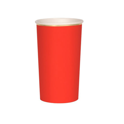 Red High Ball Paper Cups