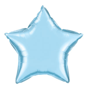 20in Light Blue Star Foil Shape Balloon