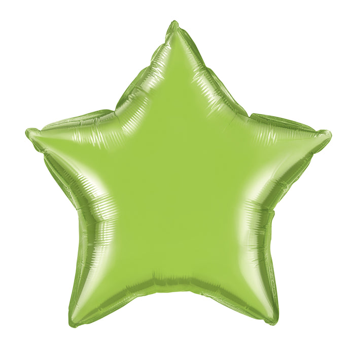 20in Lime Green Star Foil Shape Balloon