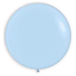 24in Pastel Blue Matte Latex Balloons