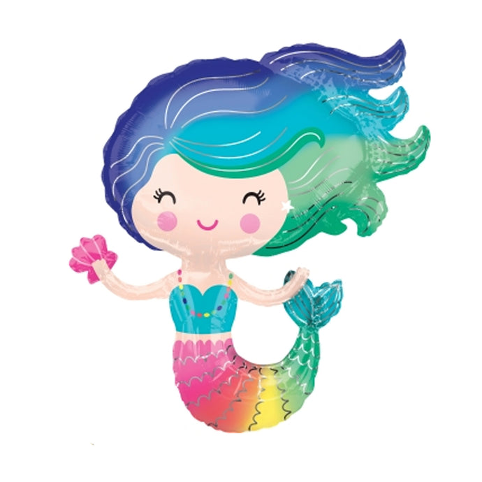 30in Colorful Mermaid Foil Shape Balloon