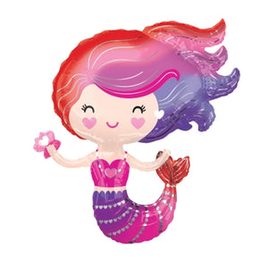 30in Lovely Mermaid Foil Shape Balloon