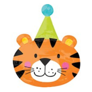 31in Birthday Tiger Foil Shape Balloon