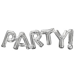 PARTY! Silver Foil Balloon