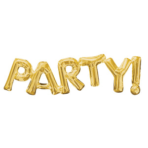 PARTY! Gold Foil Balloon