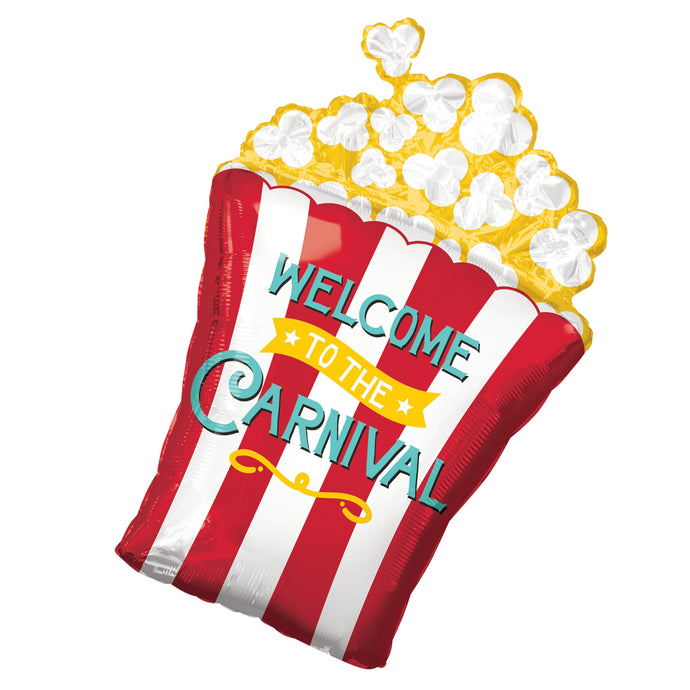 29in Welcome to the Carnival Popcorn Foil Shape Balloon