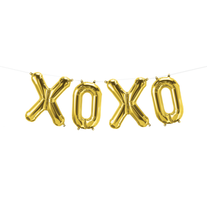 XOXO Letter Balloon Garland Gold