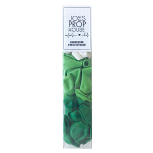 "60 Assorted Green Mini 5"" Latex Party Balloons"