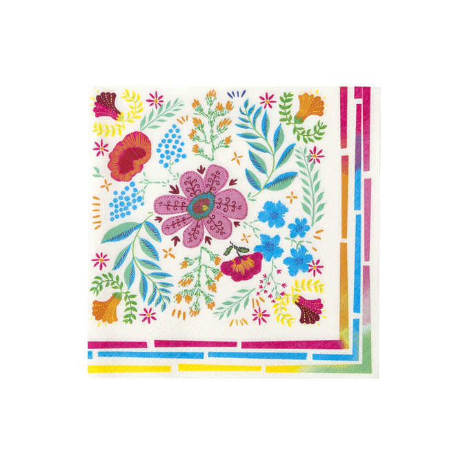Fiesta Floral Mix Large Napkins - 20 Pack