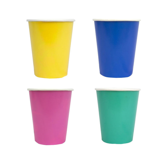Assorted Bright Paper Cups - 12 Pack
