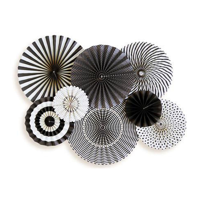 Black & White Party Paper Fans