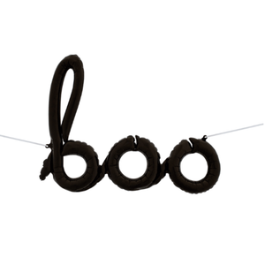42in Boo Script Balloon Black