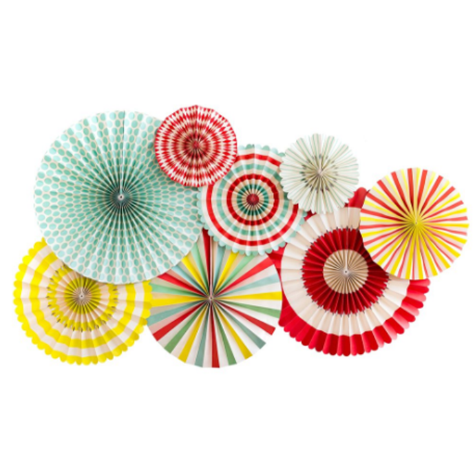 Carnival Double Sided Party Paper Fans