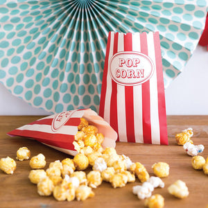 Carnival Popcorn Treat Bags - 24 Pack