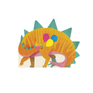 Party Dinosaur Shaped Napkins - 16 Pack
