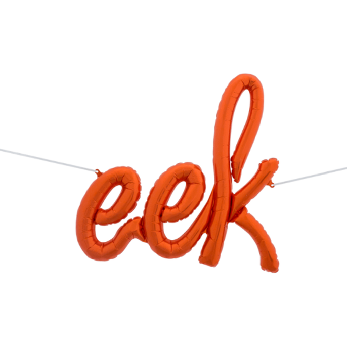 36in Eek Script Balloon Orange