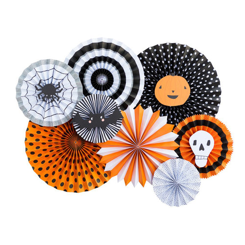 Halloween Double Sided Party Paper Fans