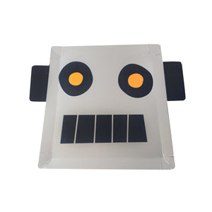 Robot Large Paper Plates - 8 Pack