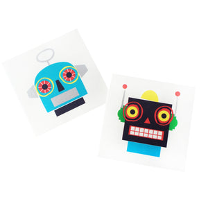 Robot Temporary Tattoos