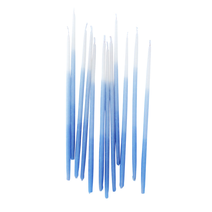 Blue Ombre 6in Pure Beeswax Candles - 12 Pack