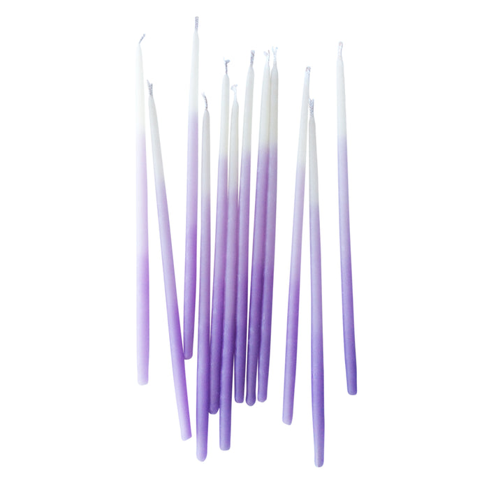 Purple Ombre 6in Pure Beeswax Candles - 12 Pack