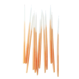 Orange Ombre 6in Pure Beeswax Candles - 12 Pack