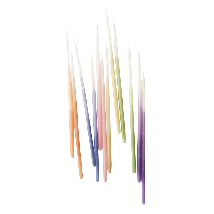 Assorted Ombre 6in Beeswax Candles - 12 Pack