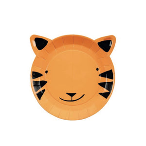 Tiger Small Paper Plates - 8 Pack