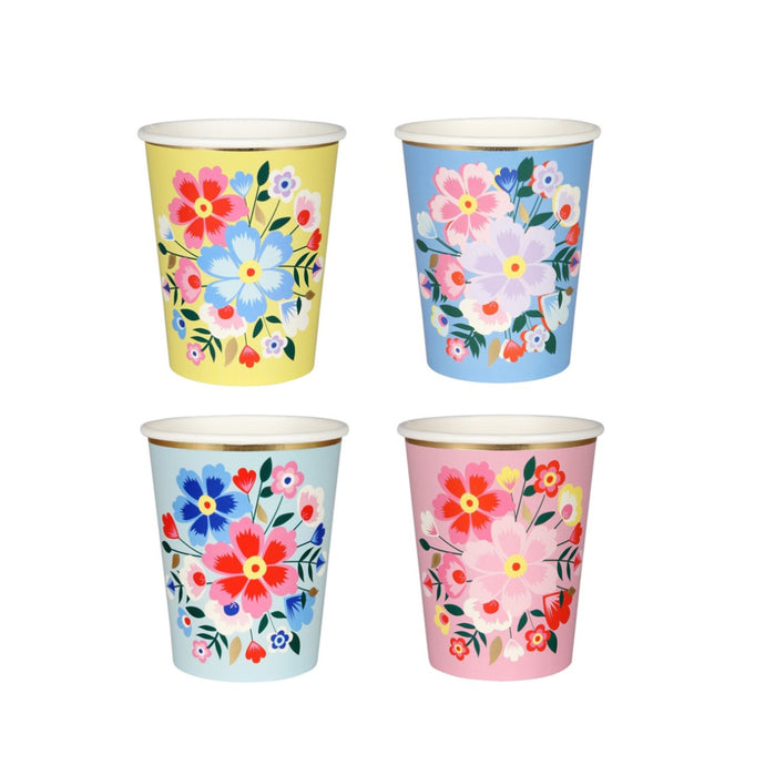 Kashmiri Floral Paper Cups - 8 Pack