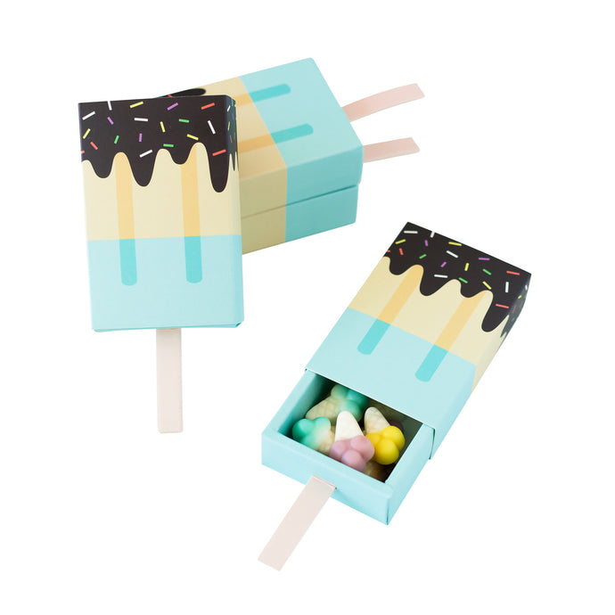 Blue Ice Cream Candy Favor Boxes - 4 Pack
