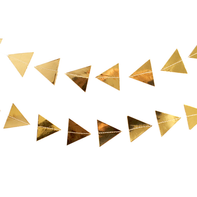 Gold Foil Triangles Paper Garland