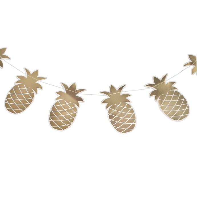 Metallic Gold Pineapple Garland