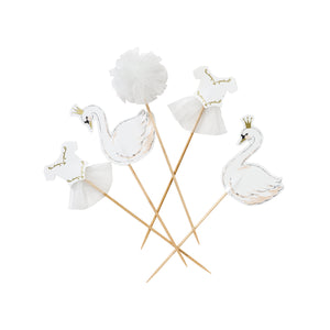 SWAN PRINCESS CAKE TOPPERS