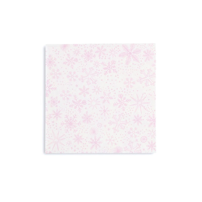 Frosted Snowflakes Large Paper Napkins - 16 Pack