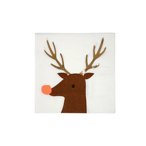 Reindeer Small Paper Napkins
