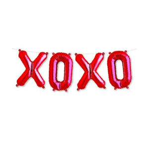 XOXO Letter Balloon Garland Red