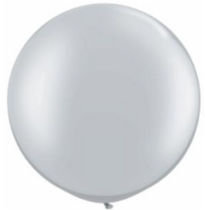 30in Silver Latex Balloon