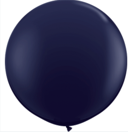 24in Navy Blue Latex Balloons