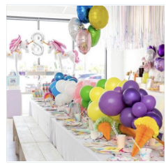 Rainbow Balloon Garland - 3 feet